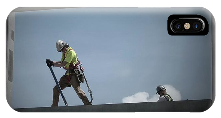 Construction IPhone X Case featuring the photograph Dancing With Concrete by Jor Cop Images