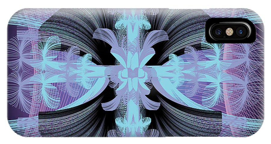 Fantasy IPhone Case featuring the digital art Dandilion Puffs by George Pasini