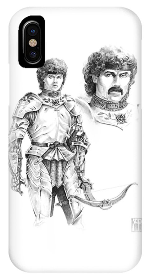 Knight IPhone Case featuring the drawing Daria by Melissa A Benson