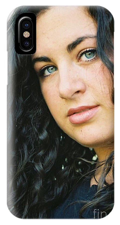 Blue Eyes IPhone Case featuring the photograph Dark Beauty by Nadine Rippelmeyer
