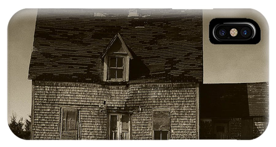 Old House IPhone Case featuring the photograph Dark Day On Lonely Street by RC DeWinter