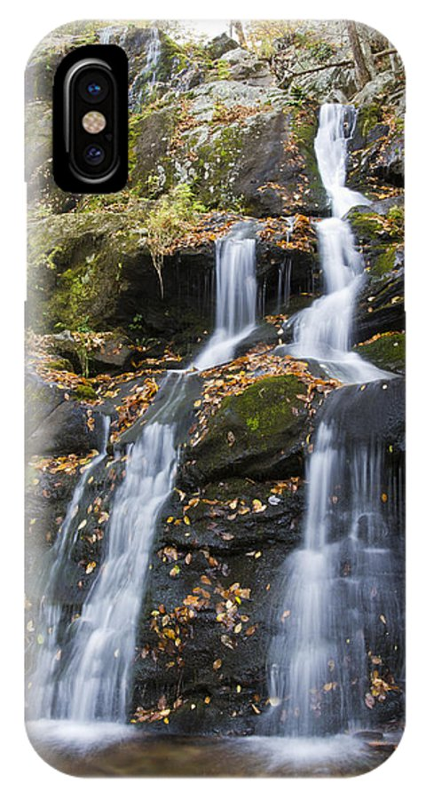 Shenandoah IPhone X Case featuring the photograph Dark Hollow Falls Shenandoah National Park by Pierre Leclerc Photography