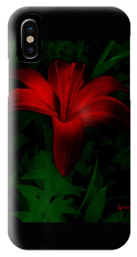 Lily IPhone X Case featuring the painting Dark Star by RC DeWinter