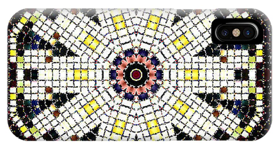 Digital IPhone X / XS Case featuring the digital art Das Weisse Kaleidoskop by Ilona Burchard