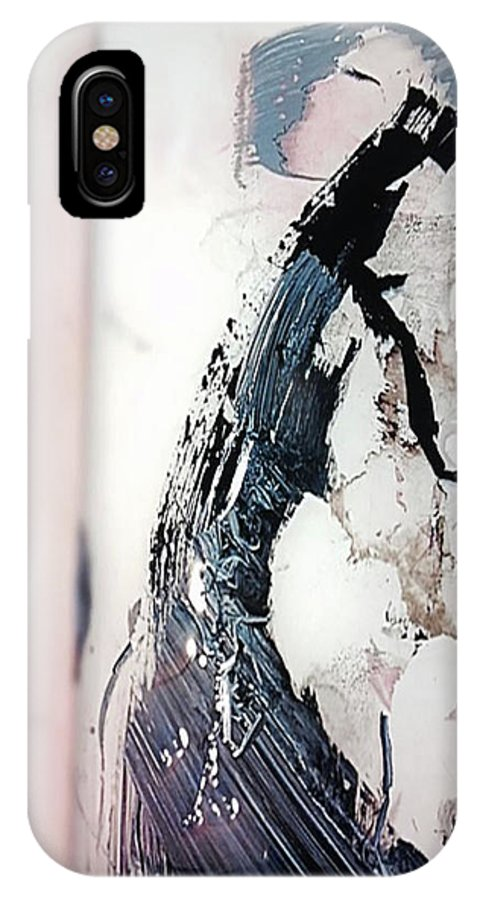 Prom IPhone X Case featuring the painting Date Elegante by ElReco Ramon
