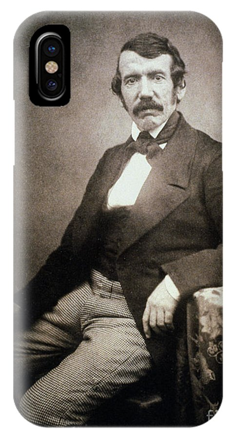 1864 IPhone X Case featuring the painting David Livingstone (1813-1873) by Granger