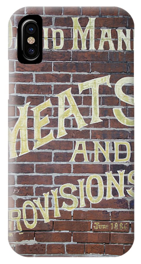 David IPhone X Case featuring the photograph David Mann - Meats And Provisions by Bill Cannon