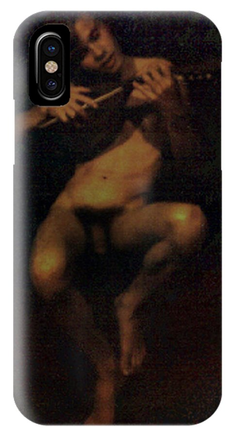 Male IPhone X Case featuring the painting David.06 by Terrell Gates