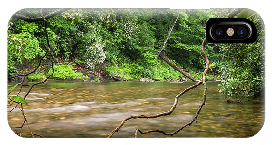 River IPhone X Case featuring the photograph Davidson River by Chip Laughton