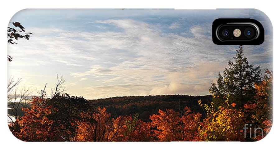 Autumn IPhone X Case featuring the photograph Dawn At Algonquin Park Canada by Oleksiy Maksymenko