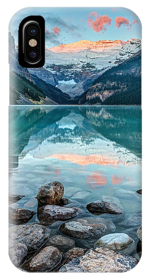 Lake Louise IPhone X / XS Case featuring the photograph Dawn At Lake Louise by Pierre Leclerc Photography