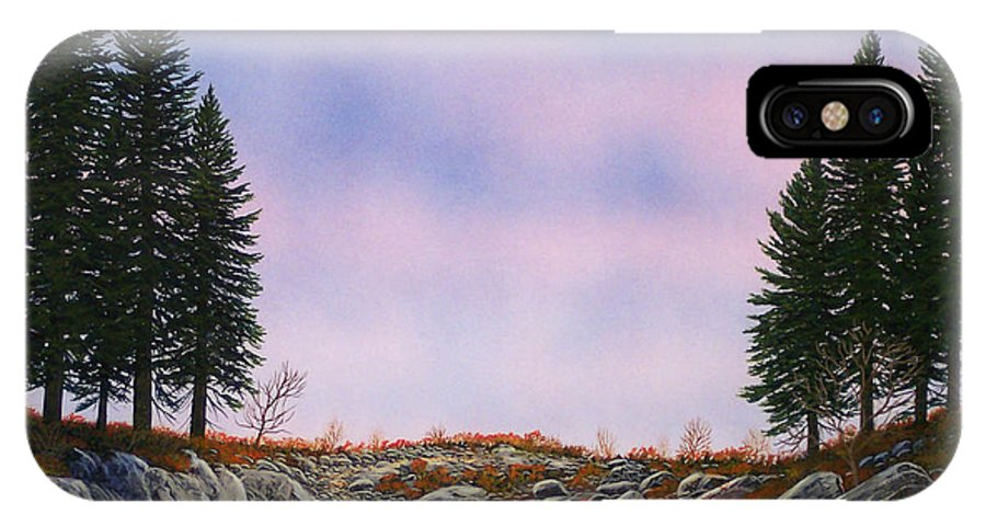 Landscape IPhone X Case featuring the painting Dawn Pacific Crest Trail by Frank Wilson