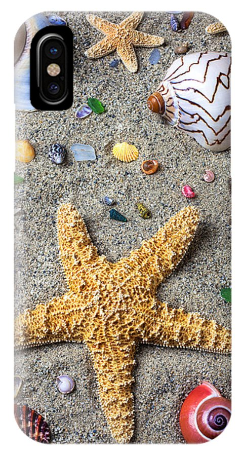 Starfish IPhone X Case featuring the photograph Day At The Beach by Garry Gay