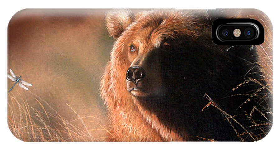 Wildlife IPhone Case featuring the painting Day Dream by Deb Owens-Lowe