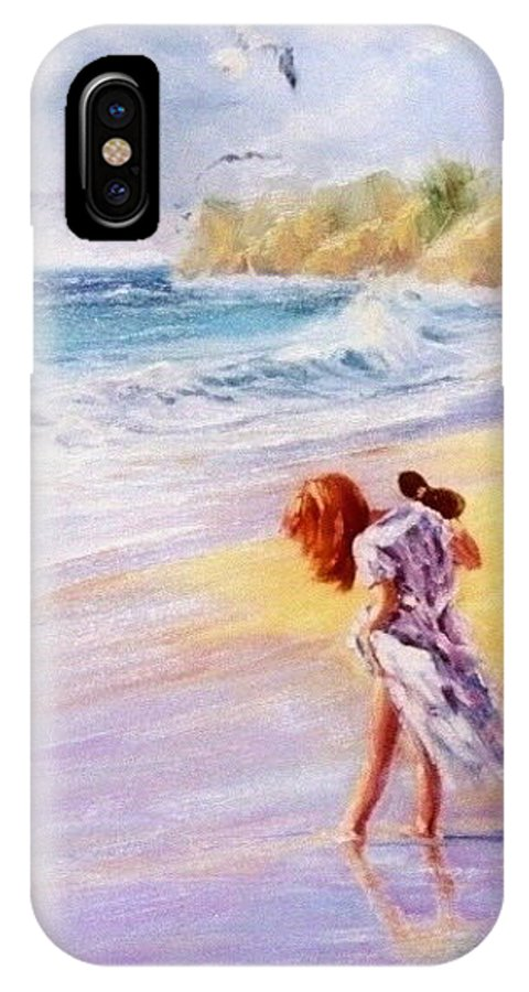 Seascape IPhone Case featuring the painting Day Dreamer by Laura Lee Zanghetti