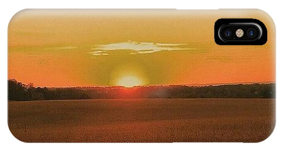 Sunset IPhone X Case featuring the photograph Day Is Done by Paul Kercher
