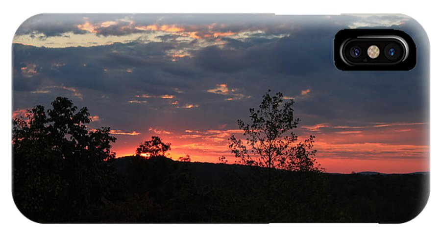 Sunset IPhone X / XS Case featuring the photograph Day Is Done by Suzanne Gaff