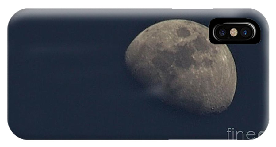 Moon IPhone X Case featuring the photograph Day Moon by Ty Shults
