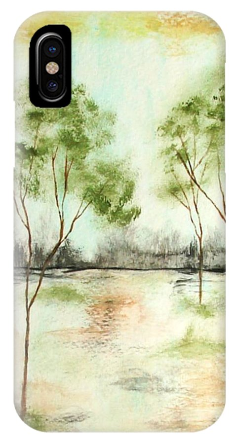 Abstract IPhone Case featuring the painting Daydream by Itaya Lightbourne