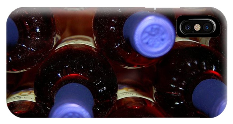 Wine IPhone X Case featuring the photograph De-vine Wine by Debbi Granruth
