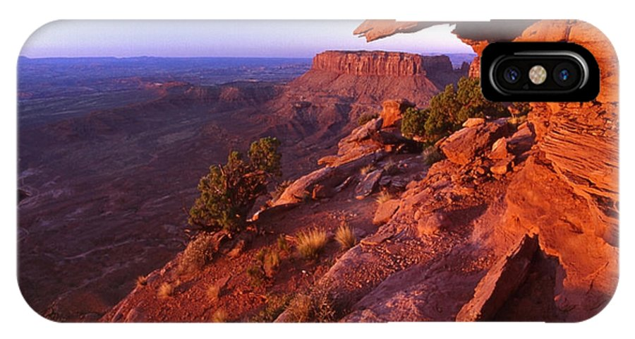 Dead Horse State Park IPhone X Case featuring the photograph Dead Horse Point Sunset by Sven Brogren