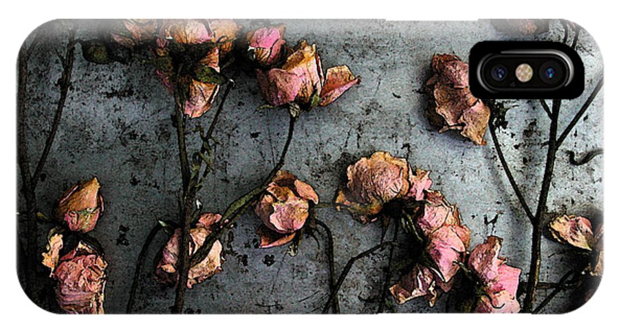 Flower IPhone X Case featuring the photograph Dead Roses 5 by Kathi Shotwell