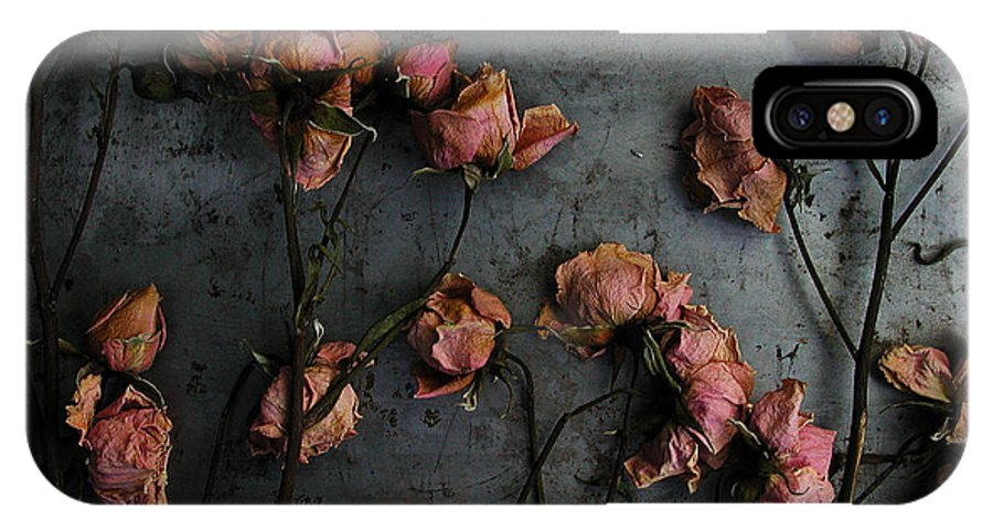 Flower IPhone X Case featuring the photograph Dead Roses 6 - Photo by Kathi Shotwell