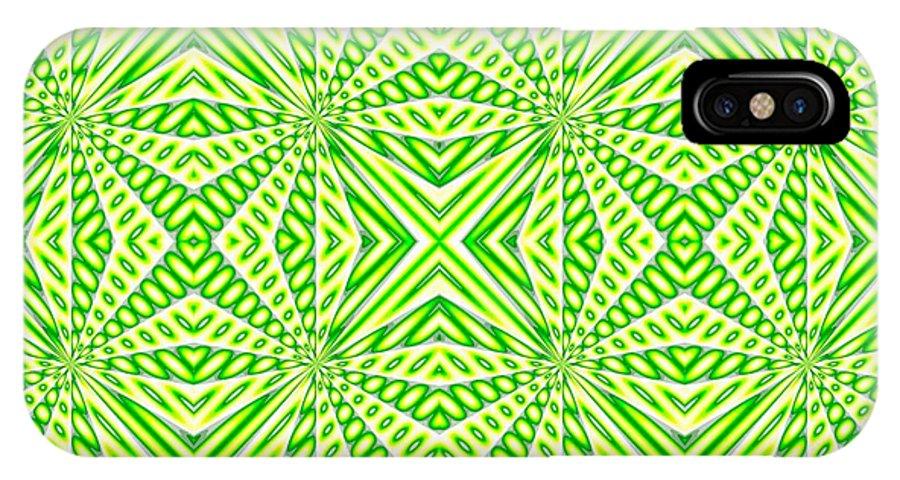Algorithmicart IPhone X Case featuring the digital art Dear2002 by Gianluigi Solbiati