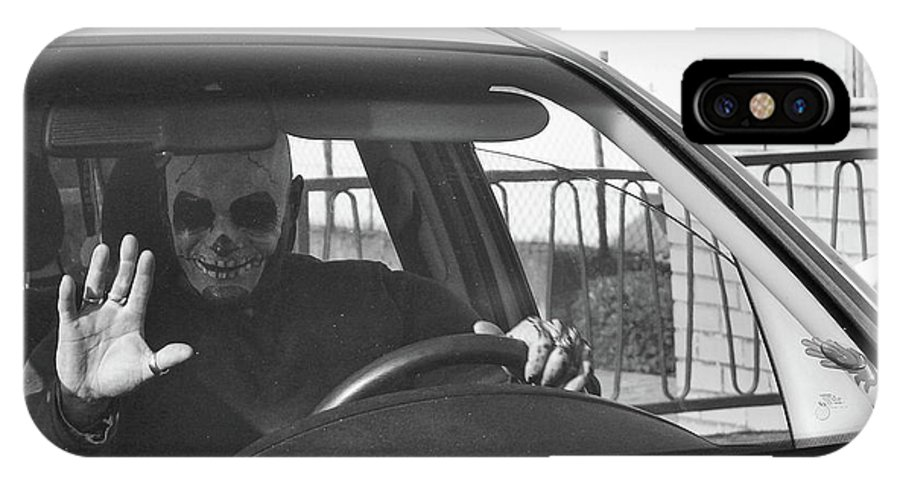 Skull IPhone X Case featuring the photograph Death Driver by Daniel Koglin