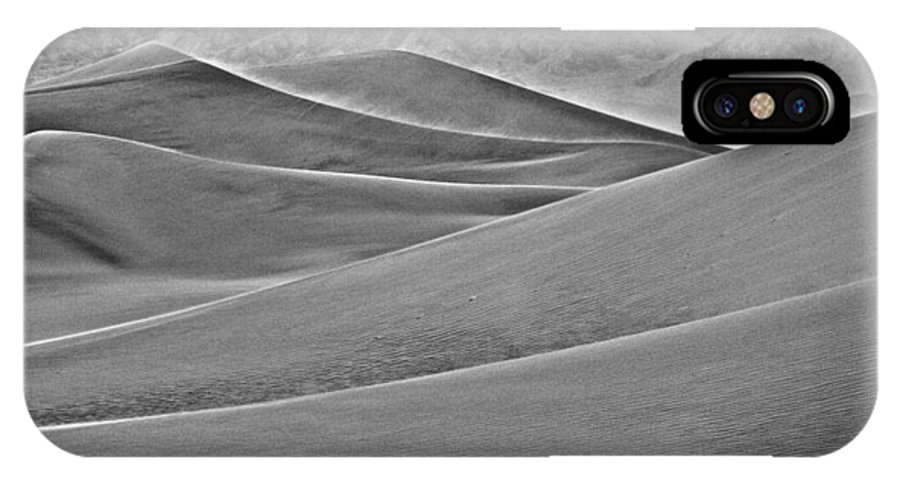California IPhone X Case featuring the photograph Death Valley Dunes by Whitman White