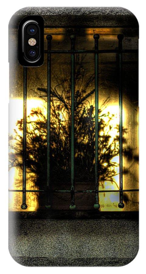 Flower IPhone X Case featuring the photograph Death's Nursery by Scott Wyatt