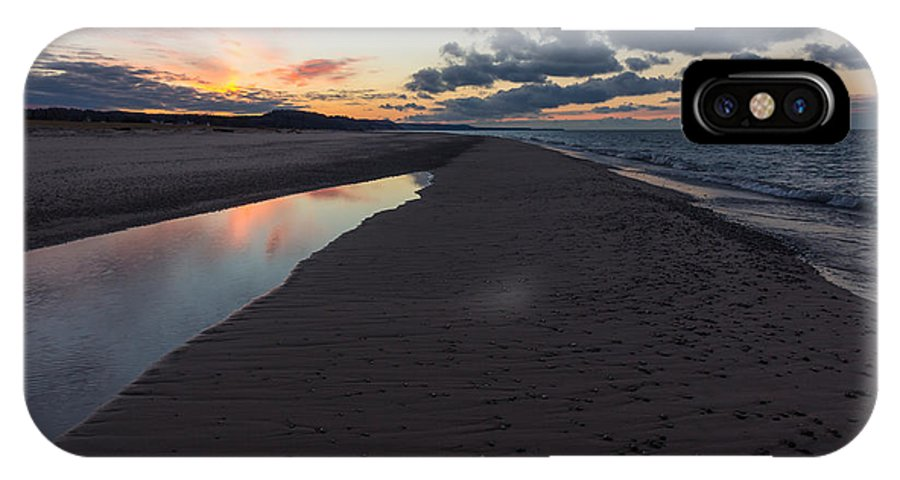 Sunset IPhone X Case featuring the photograph December Sunsets by Lee and Michael Beek