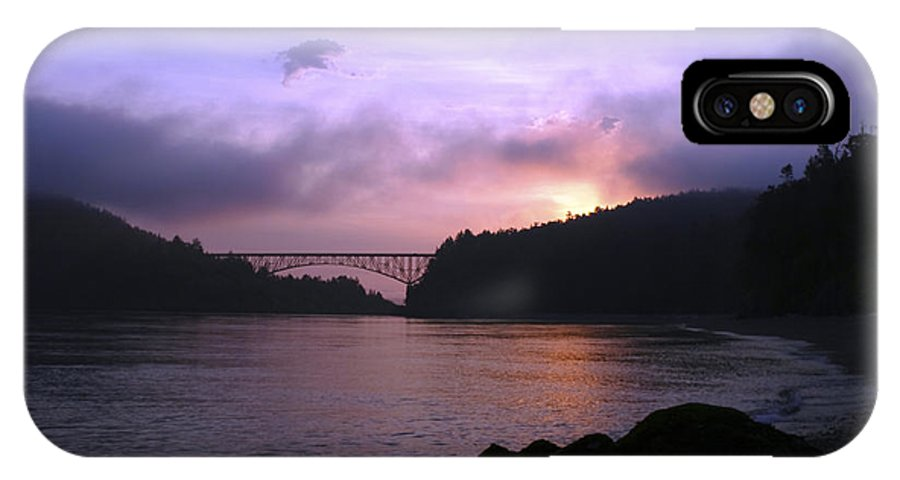 Sunrise IPhone X Case featuring the photograph Deception Pass Sunrise by Idaho Scenic Images Linda Lantzy
