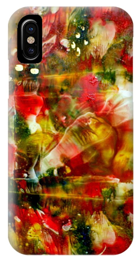 Window IPhone Case featuring the painting Deck The Halls by Susan Kubes