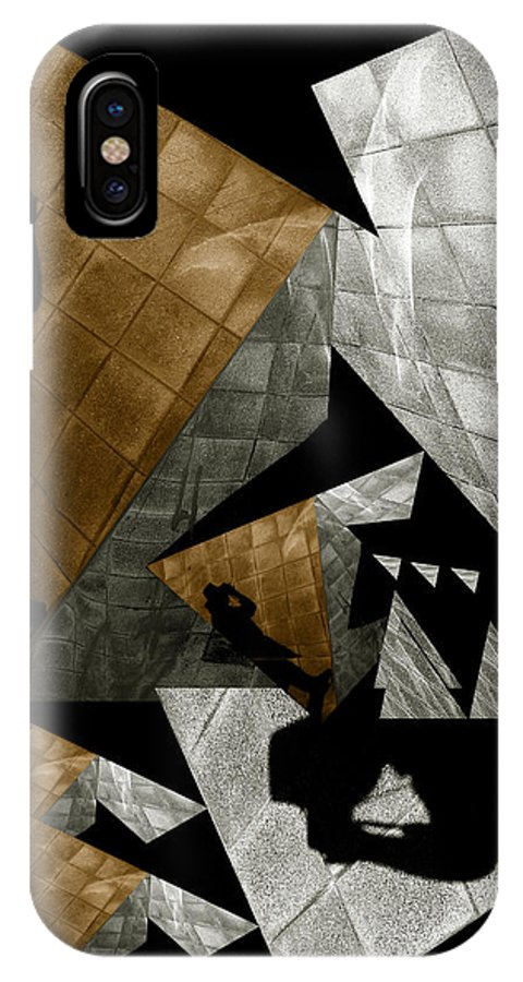 Abstract IPhone X Case featuring the photograph Deconstruction by Wayne Sherriff