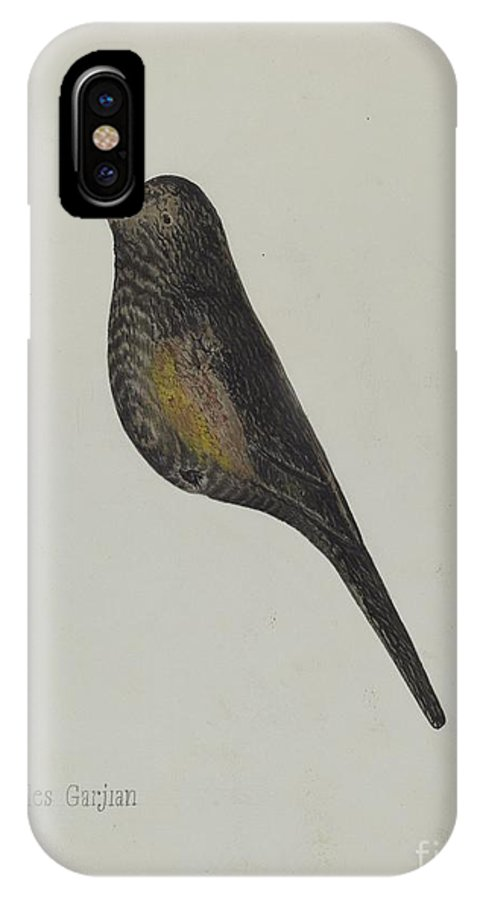 IPhone X Case featuring the drawing Decoy by Charles Garjian