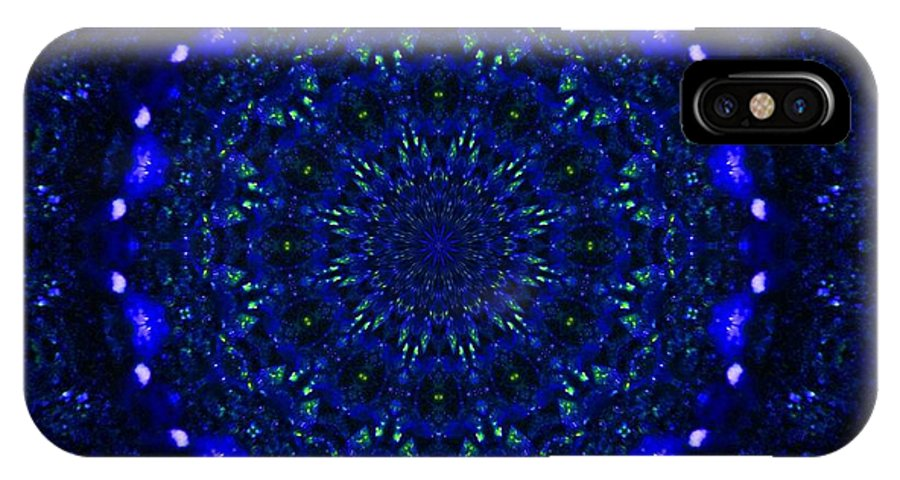 Kaleidoscope IPhone X Case featuring the photograph Deep Blue 2 by Lori Kingston