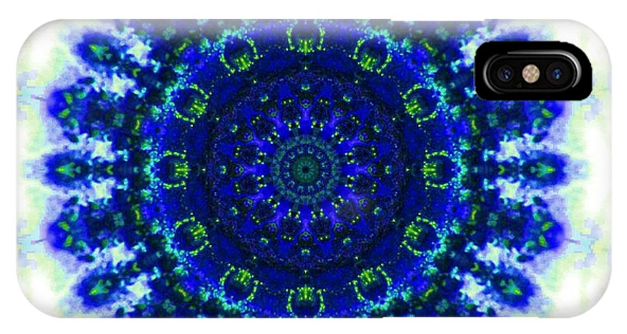 Kaleidoscope IPhone X Case featuring the photograph Deep Blue by Lori Kingston