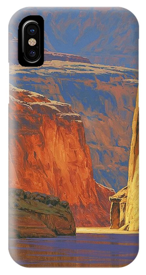 Grand Canyon IPhone X Case featuring the painting Deep In The Canyon by Cody DeLong