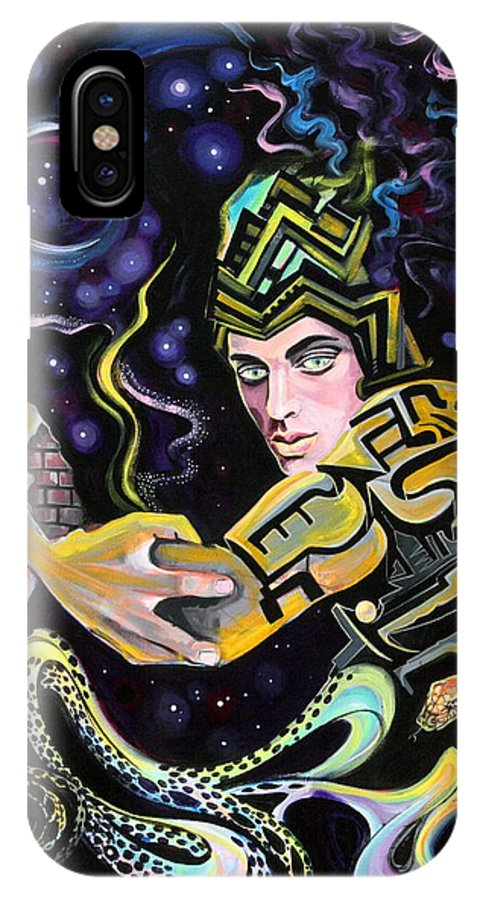 Surreal IPhone X Case featuring the painting Deep Space Eleven by Yelena Tylkina