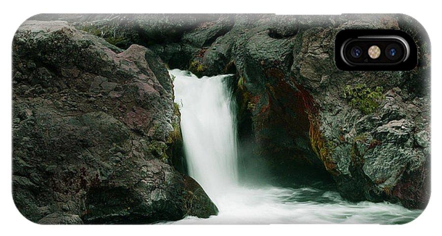 Creek IPhone X Case featuring the photograph Deer Creek Falls by Peter Piatt