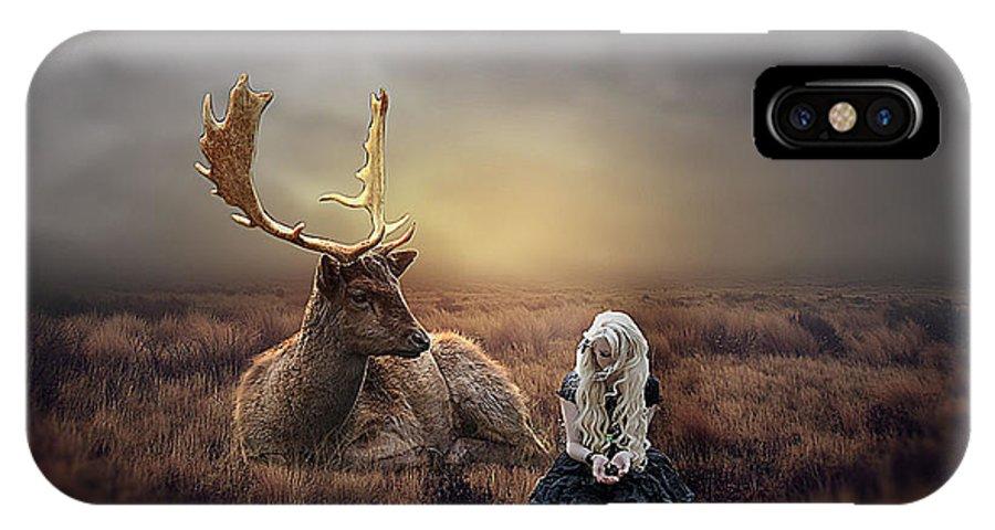 IPhone X Case featuring the digital art Deforestation World by Nicole Hernandez