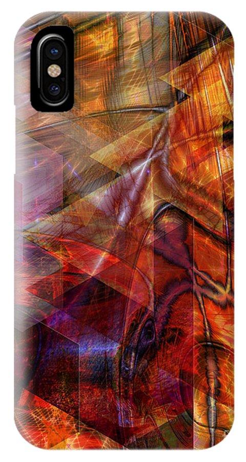 Deguello Sunrise IPhone X Case featuring the digital art Deguello Sunrise by John Beck