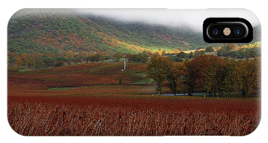 Vineyard IPhone X Case featuring the photograph Del Rio Vineyard by Todd Bartush