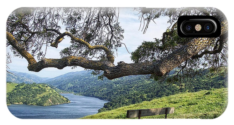 California IPhone X Case featuring the photograph Del Valle Reservoir by Donna Blackhall