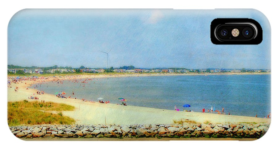 Coast IPhone X Case featuring the photograph Delaware Beach by Marty Malliton