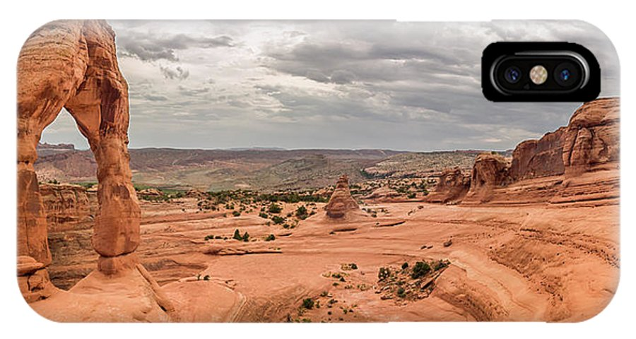 3scape IPhone X Case featuring the photograph Delicate Arch Panoramic by Adam Romanowicz