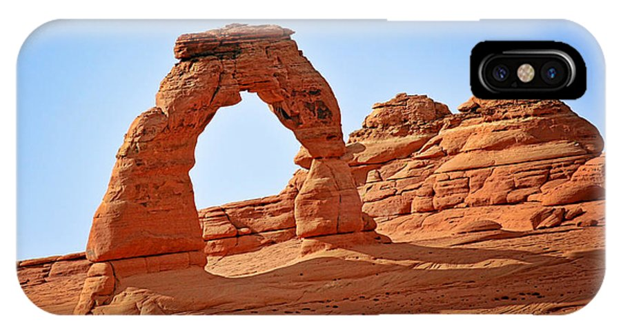 Landscape IPhone X Case featuring the photograph Delicate Arch The Arches National Park Utah by Christine Till