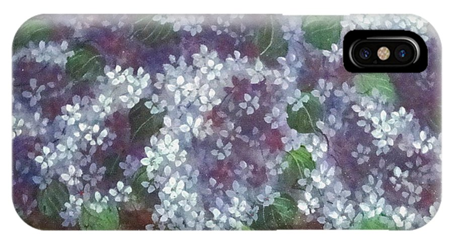 Perfumed Lilacs Greeting Cards IPhone X Case featuring the painting Delicate Perfumed Lilacs by Natalie Holland