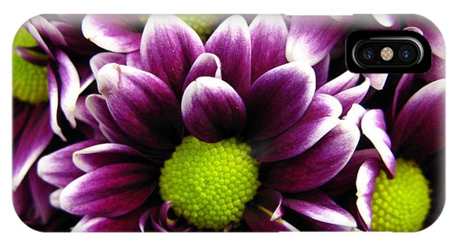 Purple IPhone X Case featuring the photograph Delicate Purple by Rhonda Barrett